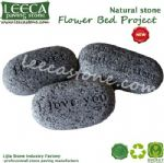 Engraved stone gift cobblestone with words natural stone