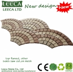 14th Xiamen Stone Fair New design fan shape porphyry stone H5