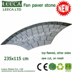 Big fan pattern mesh paving stone for landscaping