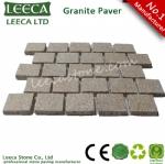 Running bond pattern cobble, driveway cobblestone, granite paver