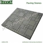 LEECA pavement black granite pavers mesh